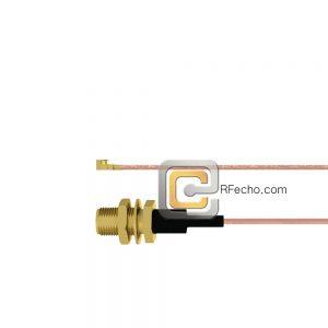 SMA Female Bulkhead to UMCX 2.5 Plug RG178 Coax and RoHS F074-320S1-451S0-30-N