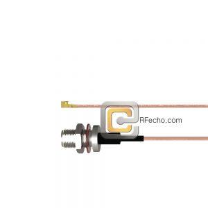 N Female Bulkhead to UMCX 2.5 Plug RG-178DS Coax and RoHS F075-290S1-451S0-30-N