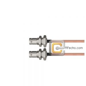 BNC Female Bulkhead to BNC Female Bulkhead RG-316 Coax and RoHS F065-220S1-220S1-30-N