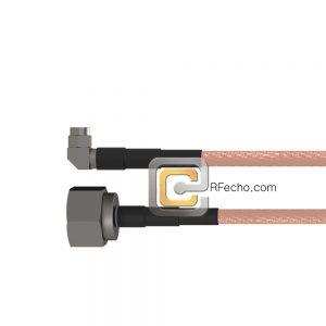 N Male to Right Angle SMA Male RG-58 Coax and RoHS F070-291S0-321R0-50-N